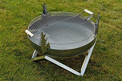Braciere per barbecue in acciaio e yanartas design contemporaneo