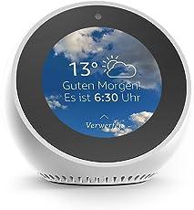 Amazon Echo Spot, Zertifiziert und generalüberholt, Weiß