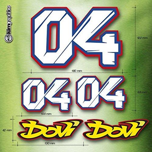 kit 5 adesivi Andrea Dovizioso #04 dovipower ducati moto MotoGP factory stickers