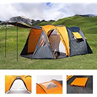 Large 4 Man Beach Camping Festival Fishing Garden Dome Tent Tunnel Sun Shelter