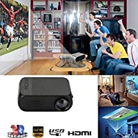 Cewaal HD Wireless LCD Projector, (US Plug)Home Theater Video Projector Support 1080p HDMI LED Home Cinema Projector fo