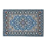 Blue Vesse 1: 12 Blue Puppenhaus Teppich Puppenhaus Mini Weave Türkei Carpet -