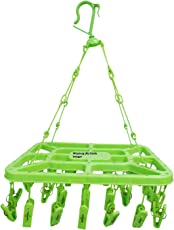 Glitter Collection Winberg (R) 32 Clip Laundry Clothesline Hanging Rack For Drying Clothing (Colour May Vary )