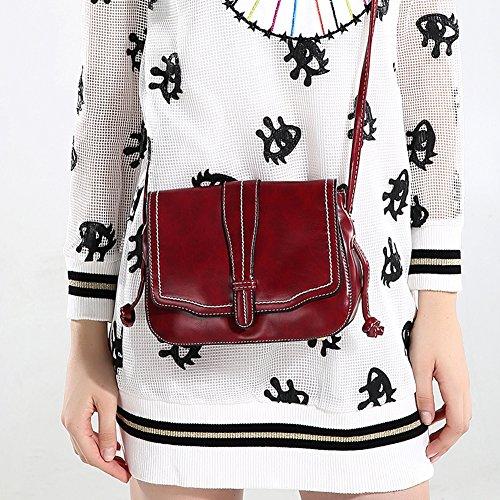 Faysting EU borsa a tracolla donna vari colori scelti PU pelle retro stile buon regalo rosso vino