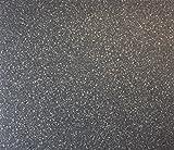 PVC-Boden in Granit-Optik Dunkel mit Schaumrücken | Vinylboden 2m Breite & 2m Länge | Fußbodenheizung geeignet | PVC Platten strapazierfähig & pflegeleicht | robuster, rutschhemmender Fußboden-Belag | Hergestellt in Belgien