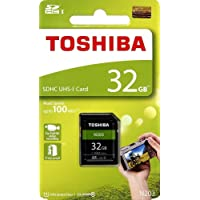 Toshiba 32GB UHS-I Class 10 SDHC Memory Card (Read Speed Upto 100 MB/s) (32GB)