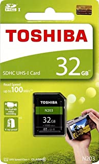 Toshiba 32 GB UHS I Class 10 SDHC Memory Card  Read Speed Upto 100 MB/s   32 GB