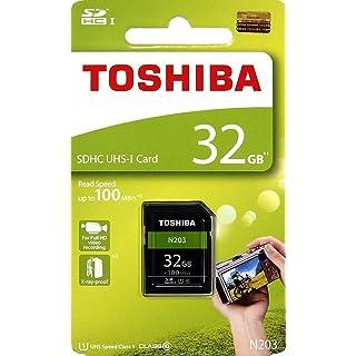 Toshiba 32 GB UHS I Class 10 SDHC Memory Card  Read Speed Upto 100 MB/s   32 GB