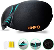 EMPO Eye Mask/Sleep Mask 3D Soft Memory Foam Contoured with Free Ear Plugs, Better Than Silk, Sleep Deeply Anywhere...