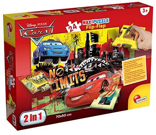 Lisciani Giochi 48427-Cars Puzzle Maxi Flip Flap, 24Unidades