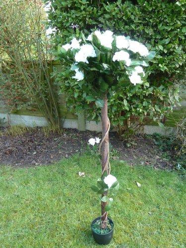 Piante artificiali 4piedi albero di rose bianche for Rose piante