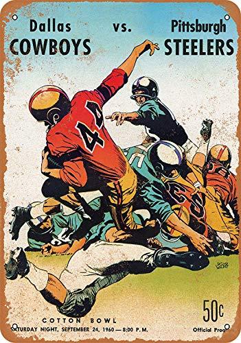Froy Dallas Cowboys First Game 1960 Wand Blechschild Retro Eisen Poster Malerei Plaque Blech Vintage Personalisierte Kunst Kreativität Dekoration Handwerk Für Cafe Bar Garage Hause -