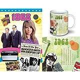 1968 Birthday Gift Package - 1968 DVD Film , 1968 Chart CD and 1968 Coffee Mug