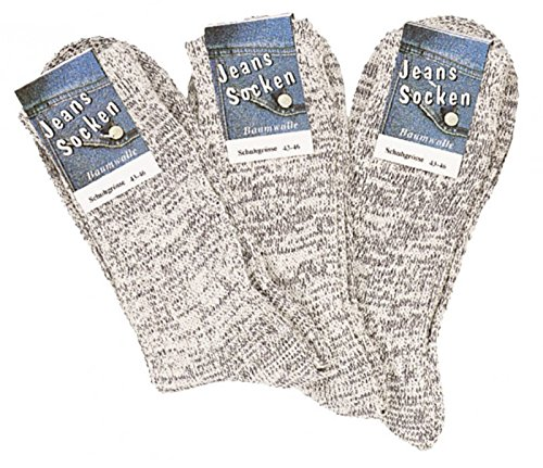 Original Ch (6 Paar Socken im original Jeans-Style natur-jeansmelange CH-6156 (39 - 42))