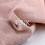 Youmu lino cotone tessuto materiale organico naturale puro lino Cambric Eco DIY vestiti, 129,5x 99,1cm, Pink, 1 meter/51' x 39'
