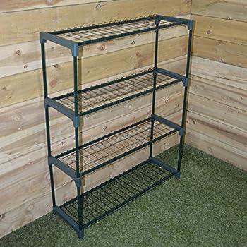 kingfisher ghstage 4 tag res tag re pour serre vert. Black Bedroom Furniture Sets. Home Design Ideas