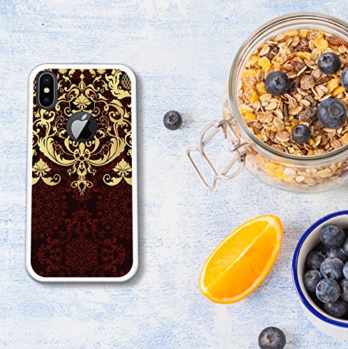 iPhone X Hülle, WoowCase Handyhülle Silikon für [ iPhone X ] Weißer und blauer Marmor Handytasche Handy Cover Case Schutzhülle Flexible TPU - Transparent Housse Gel iPhone X Transparent D0572