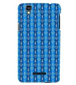 PrintVisa Designer Back Case Cover for YU Yureka Plus :: Yu Yureka PlusYU5510A (Blue Stripped Pattern)