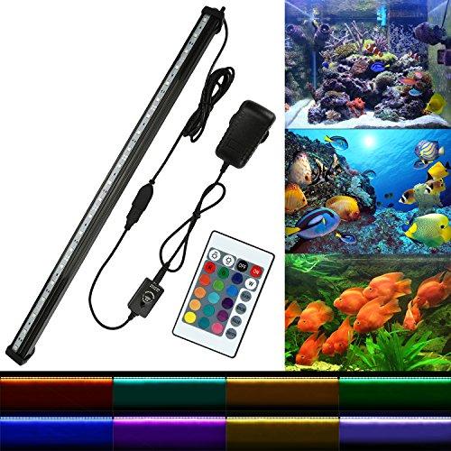 NONMON Aquarium LED RGB Lampe 52 CM Tube Hydrofuge Ampoule à Bulle Télécommande Pour Aquarium Poisson Puissance Maximale 5.8W