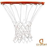 CDsport Retina da Basket per canestro, Anti-Sflitacciamento, Grandezza Regolamentare, in Polipropilene, per Canestro Standard, Ultra Resistente, qualità Premium