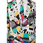 OppoSuits Lustige Verrückt Abschlussball Anzüge für Herren - Komplettes Set: Jackett, Hose und Krawatte,Mehrfarbig,38