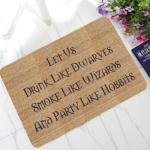 Amphia Brief lustige Begrüßung Home Eingangs Boden Teppich Rutschfeste Doormat Outdoor-Matte...