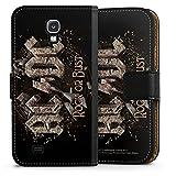 DeinDesign Samsung Galaxy S4 Tasche Leder Flip Case Hülle ACDC Merchandise Fanartikel Rock or Bust
