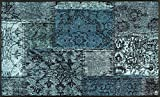 Wash&Dry 088745 Vintage Patches türkis Fußmatte, Acryl, grün, 75 x 120 x 0.7 cm