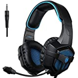 [Xbox one Gaming Headset, PS4 Headset] Sades SA807 Gaming Headphones Over Ear Noise-isolating, Stereo Bass with Microphone, V