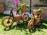 Fahrrad Bike 90 cm XXL, aus Korbgeflecht, Korbruten wetterfest**, pfiffige GARTENDEKO, ideal als Pflanzkasten, Blumenkasten, Pflanzhilfe, Pflanzcontainer, Pflanztröge, Pflanzschale, Rattan, Weidenkorb, Pflanzkorb, Blumentöpfe, Holzschubkarre, Pflanztrog, Pflanzgefäß, Pflanzschale, Blumentopf, Pflanzkasten, Übertopf, Übertöpfe, , Holzhaus Pflanzgefäß, Pflanztöpfe Pflanzkübel
