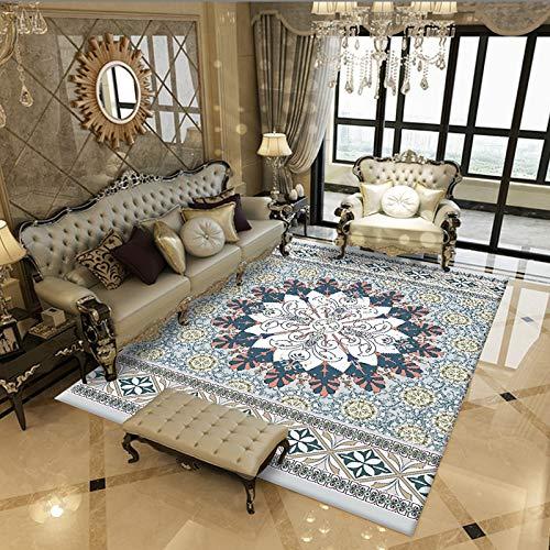 Rug Modern Schäbig Schick Traditionell Teppich Jahrgang Blumen orientalisch Teppiche Betrübt zum Zuhause Leben Essen Zimmer Teppich GTMYUK,E,160x230cm (Teppich Blumen Moderne)
