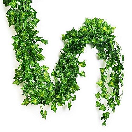 Eastern modernes Leben Splendid Englisch Ivy Seide Greenery Hochzeit Party Girlanden, Seide, grün, 75 feet-12 PCS (Pc 75')