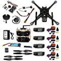 FEICHAO DIY RC Drone Full Kit Racing Drone with S600 Frame PIX 2.4.8 Flight Control AT9S TX Battery Charger