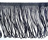 Schwarz gekettelt Kleid Fringe, 10 cm breit, 10 cm breit, Basteln, Meterware