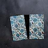 DAMU |Ceranfeldabdeckung 2 Teilig 2x30x52 cm Herdabdeckplatten Abstrakt Elektroherd Induktion Herdschutz Spritzschutz Glasplatte Schneidebrett Blau Mosaik