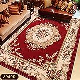 GRENSS 2018 Neue style Sofa im Wohnzimmer Couchtisch Teppiche Schlafzimmer Bett Matratze Bett vorne und europäisch-amerikanischen Chinesischen minimalistischen modernen, 0,8 m * 1,2 m, 2040 r Wein rot