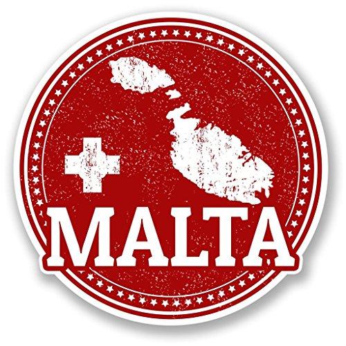 Preisvergleich Produktbild 2x Malta Vinyl Aufkleber Aufkleber Laptop Reise Gepäck Auto Ipad Schild Fun # 4285 - 10cm/100mm Wide