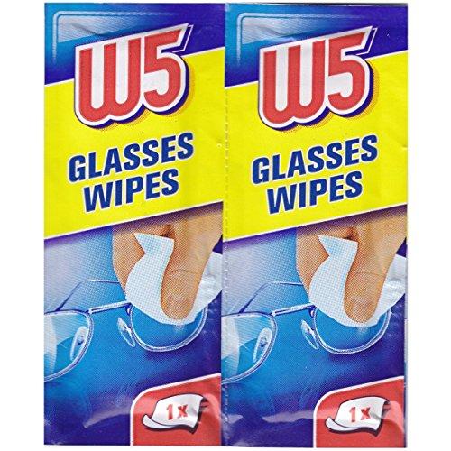 1Box (54 Stück) Reinigungstücher geeignet um Brillen, Kameras, Ferngläser, Autospiegel, Helmvisiere, Computerbildschirme, Fernseher, Mobiltelefone, iPhone, Android zu reinigen.