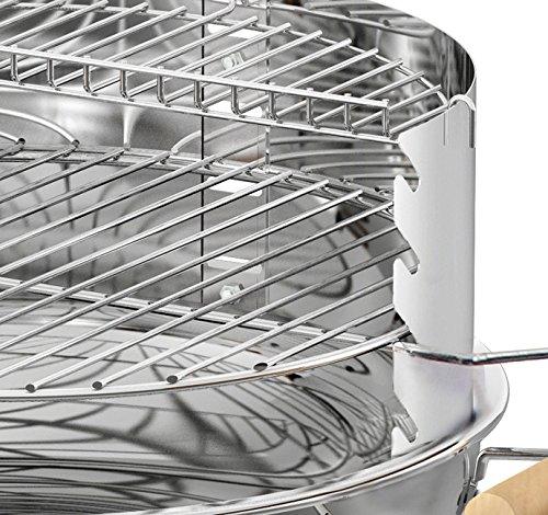 Enders BBQ Holzkohle-Grill UTAH, Säulengrill 8502, aus Edelstahl, stabil, TÜV/GS geprüft