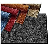 Paillasson etm® moucheté très absorbant | tapis d'entrée couloir | intérieur ou extérieur | lavable en machine | Anthracite gris noir, 60x90cm