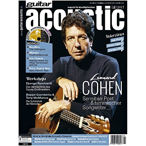 guitar acoustic 2 2017 mit CD - Leonard Cohen - Interviews - Akustikgitarre Workshops - Akustikgitarre Playalongs - Akustikgitarre Test und Technik