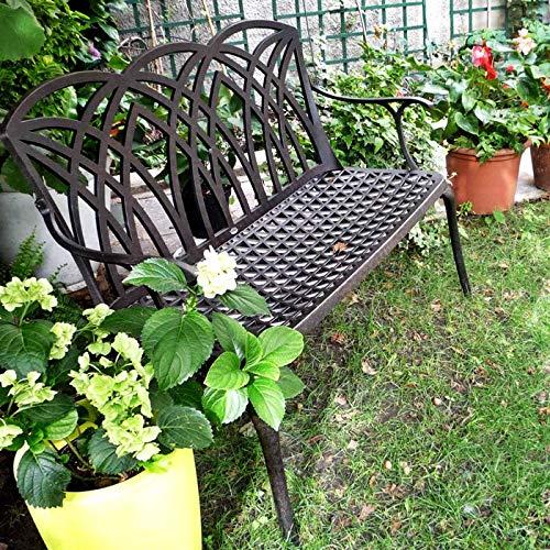 Lazy Susan – APRIL Gartenbank aus Aluminium, Antik Bronze - 3