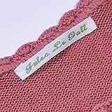 Haberdashery Online - Etichette tessuti per abiti, con nome (Confezione da 36) Etichette per la scuola, strisce di identificazione per bambini.
