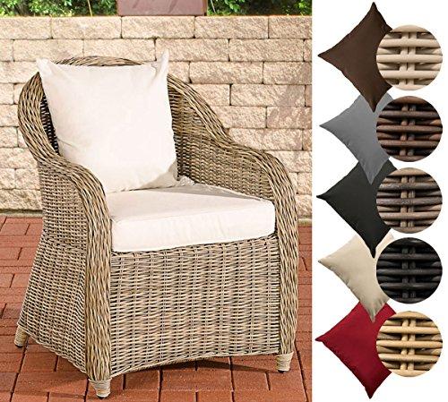 CLP Polyrattan-Sessel FARSUND inklusive Sitzkissen I Robuster Gartenstuhl mit Einem Untergestell aus...