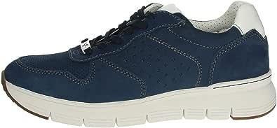 VALLEVERDE 17852 Sneakers Scarpe Uomo in Pelle Blu Casual