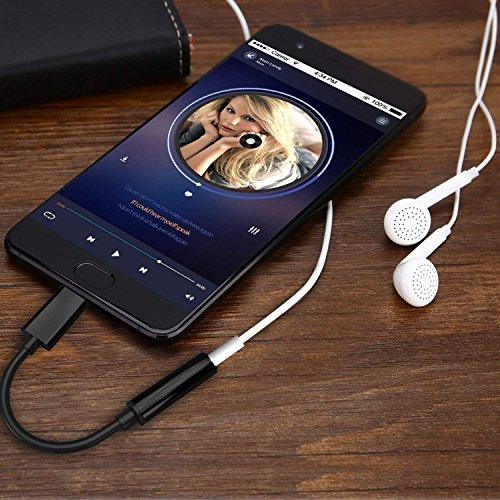 Aux USB C Adapter, Kolpop USB C auf Klinke Typ C auf 3.5 mm Jack Kopfhörer Adapter mit DAC Chipset für iPad Pro 2018, Google Pixel 3/2 XL, HTC U11/U12+,Huawei P20 Pro/Mate 20 Pro,Moto Z,Xiaomi&Mac Pro - 7