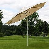 Mendler Alu Sonnenschirm Gartenschirm N18 270cm
