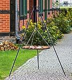 Korono Schwenkgrill stabiles Teleskopgestell 180 cm & Rost 50 cm Stahl BBQ Grill - optimal für kulinarischen Abenteuer