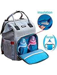 VEBE Travel Backpack Diaper Bag With Stroller Hook,Designer Diaper Bag For Men & Women ,Large Capacity Nappy Bag...