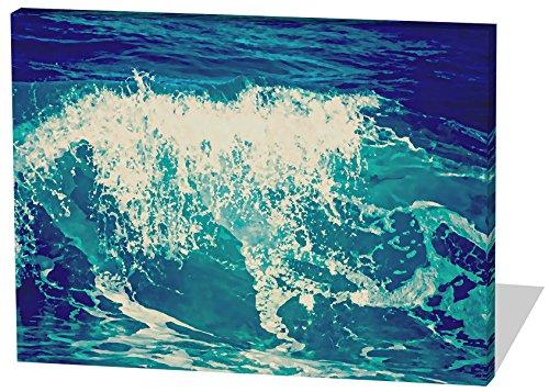 Heaven's Kostüme Angel (Die Welle, Gemälde Effekt, schönes und hochwertiges Leinwandbild zum Aufhängen in XXL - 120cm x 80cm, echter Holzrahmen, effektiver Pigmentdruck, modernes Design für Ihr Büro oder)